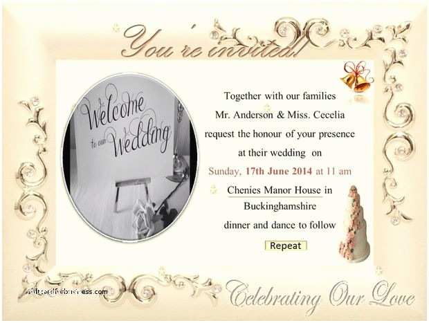 Electronic Wedding Invitations Wedding Invitation Best Free Electronic Wedding