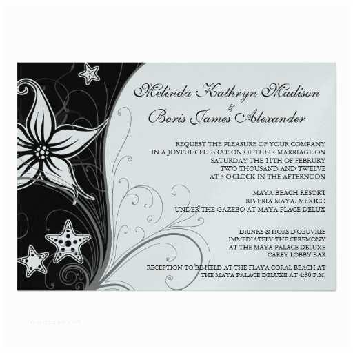 "Elegant Beach Wedding Invitations Elegant Beach Destination Wedding Theme Invites 5"" X"