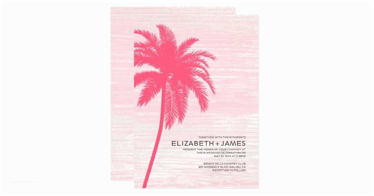 Elegant Beach Wedding  Elegant Palm Trees Beach Wedding