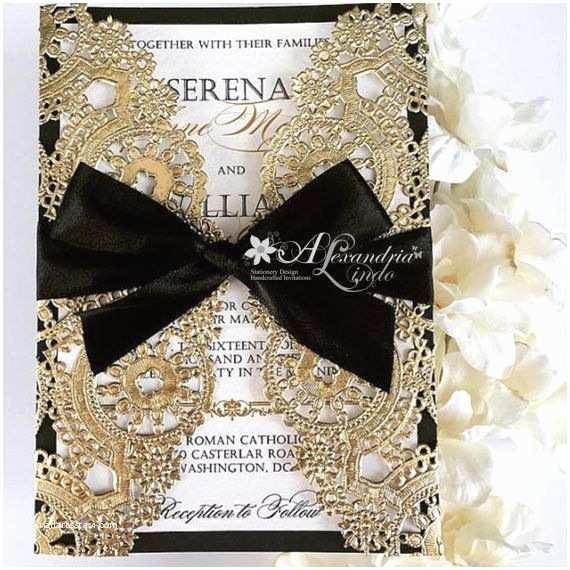 Elegant Black and Gold Wedding Invitations Best 25 Gold Wedding Invitations Ideas On Pinterest