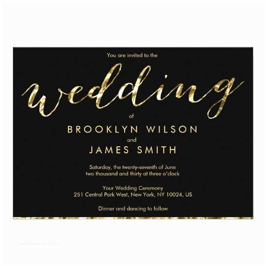 Elegant Black and Gold Wedding Invitations Black White Purple Swirl Wedding Invitations