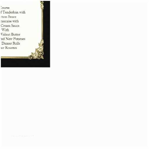 Elegant Black and Gold Wedding Invitations Elegant Black Ivory and Gold Custom Wedding Menu Custom