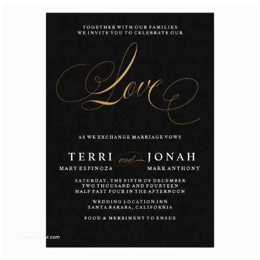 Elegant Black and Gold Wedding Invitations Elegant Gold Black Invitations 15 000 Elegant Gold Black