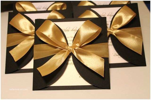 Elegant Black and Gold Wedding Invitations Elegant Invitations Black and Gold Cards
