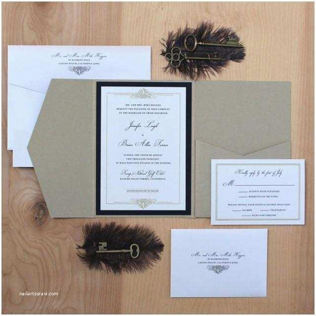 Elegant Black and Gold Wedding Invitations Elegant Wedding Invitation Black and Gold Invitation