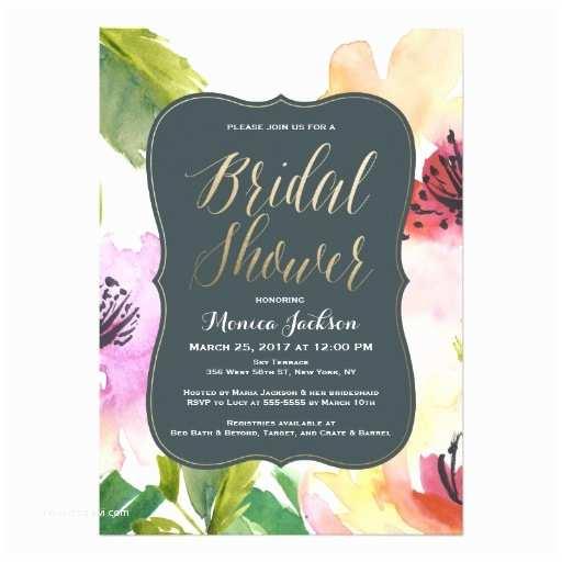 Elegant Bridal Shower Invitations Elegant Flowers Bridal Shower Invitation