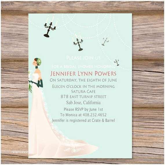 Elegant Bridal Shower Invitations Elegant Wedding Dress Blue Bridal Shower Invitations