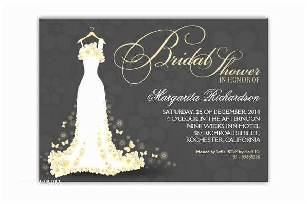 Elegant Bridal Shower Invitations Read More – Elegant Floral Bride Dress Bridal Shower
