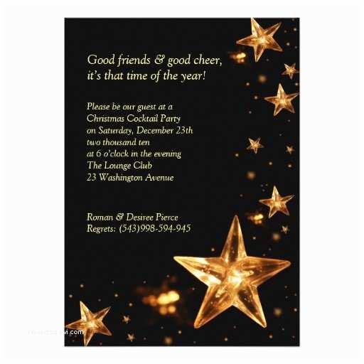 """Elegant Christmas Party Invitations Elegant Christmas Cocktail Party Invitation 5"""" X 7"""