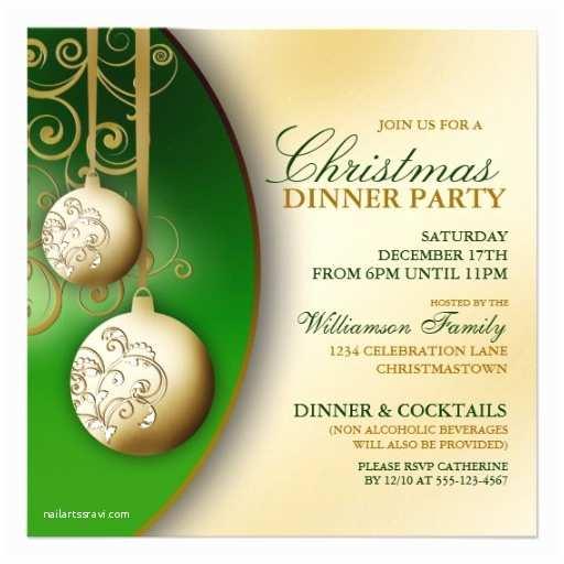 """Elegant Christmas Party Invitations Elegant Christmas Dinner Party Invitation 5 25"""" Square"""
