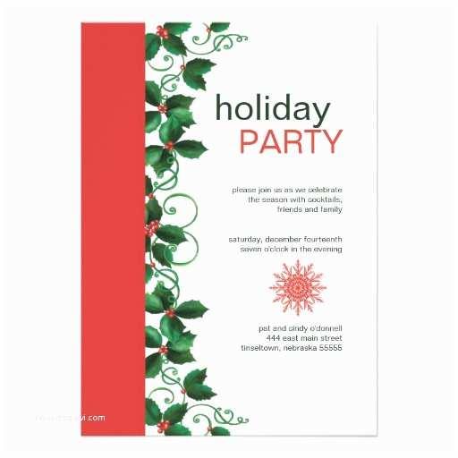 """Elegant Christmas Party Invitations Elegant Christmas Holiday Party Invitations 5"""" X 7"""
