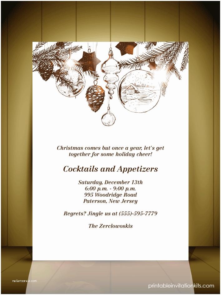 Elegant Christmas Party Invitations Elegant Christmas Invitations Templates Free