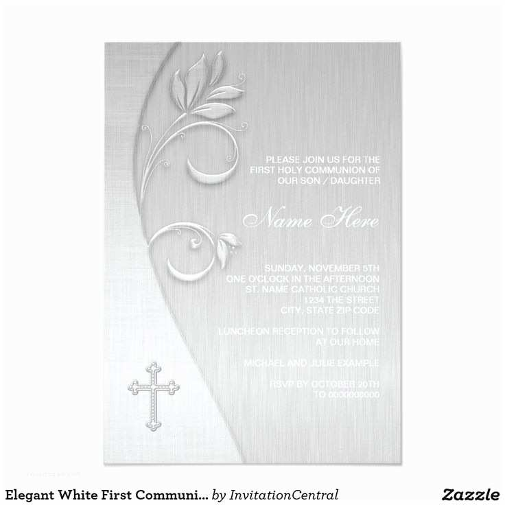 Elegant Communion Invitations 17 Best Images About First Munion Invitations Ideas On
