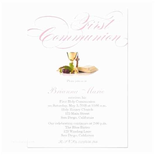 Elegant Communion Invitations First Holy Munion Invitations – Invitations 4 U