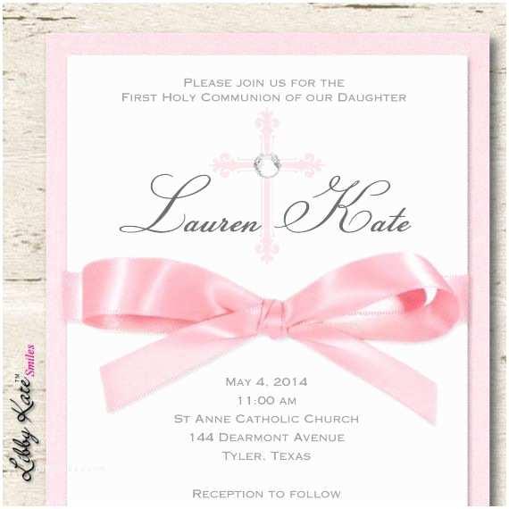 Elegant Communion Invitations Girl First Munion Invitation Girl Elegant Munion