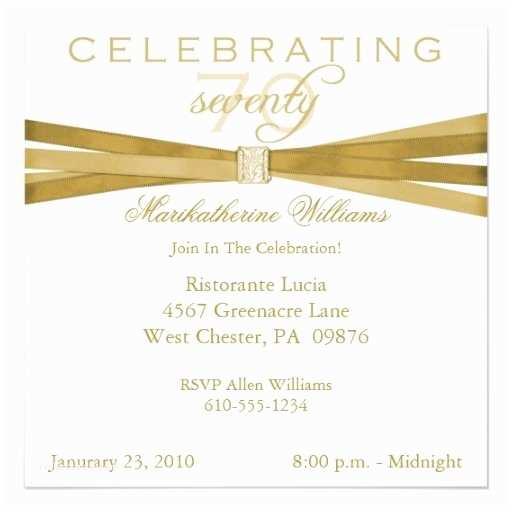 Elegant Party Invitations Elegant 70th Birthday Party Invitations