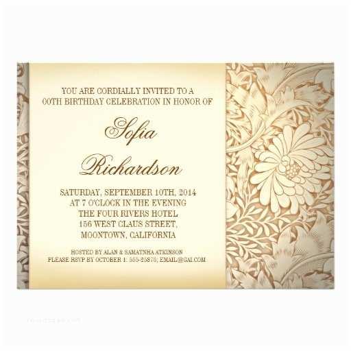 Elegant Party Invitations Elegant Birthday Invitations