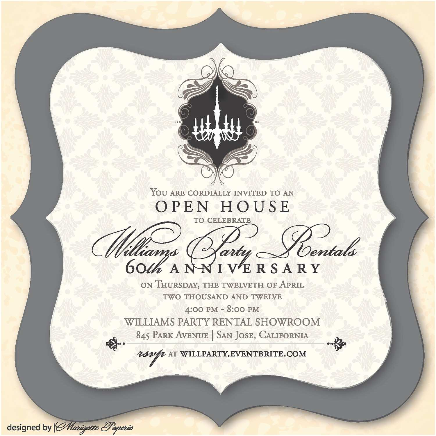 Elegant Party Invitations Elegant Party Invitation By Marizettepaperie On