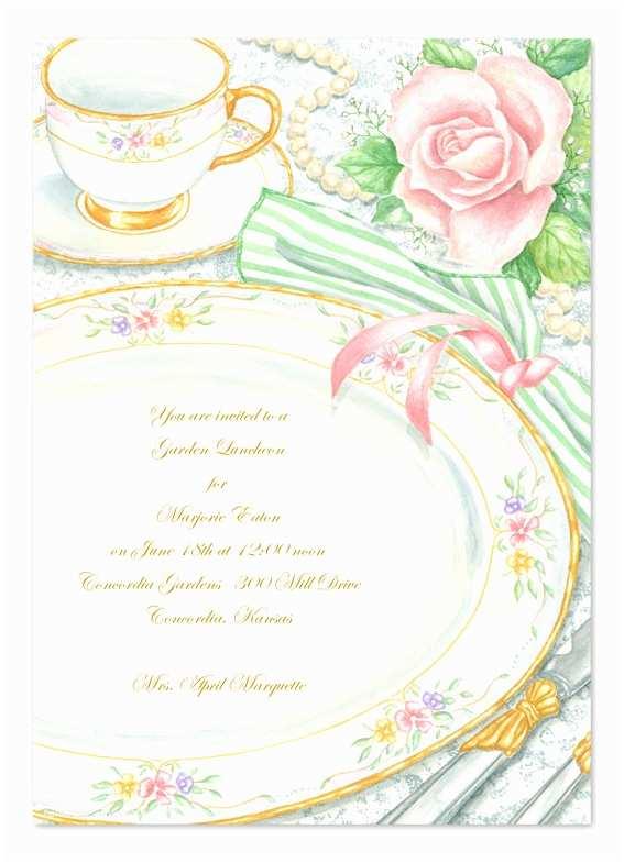 Elegant Party Invitations Elegant Tea Party Invitations