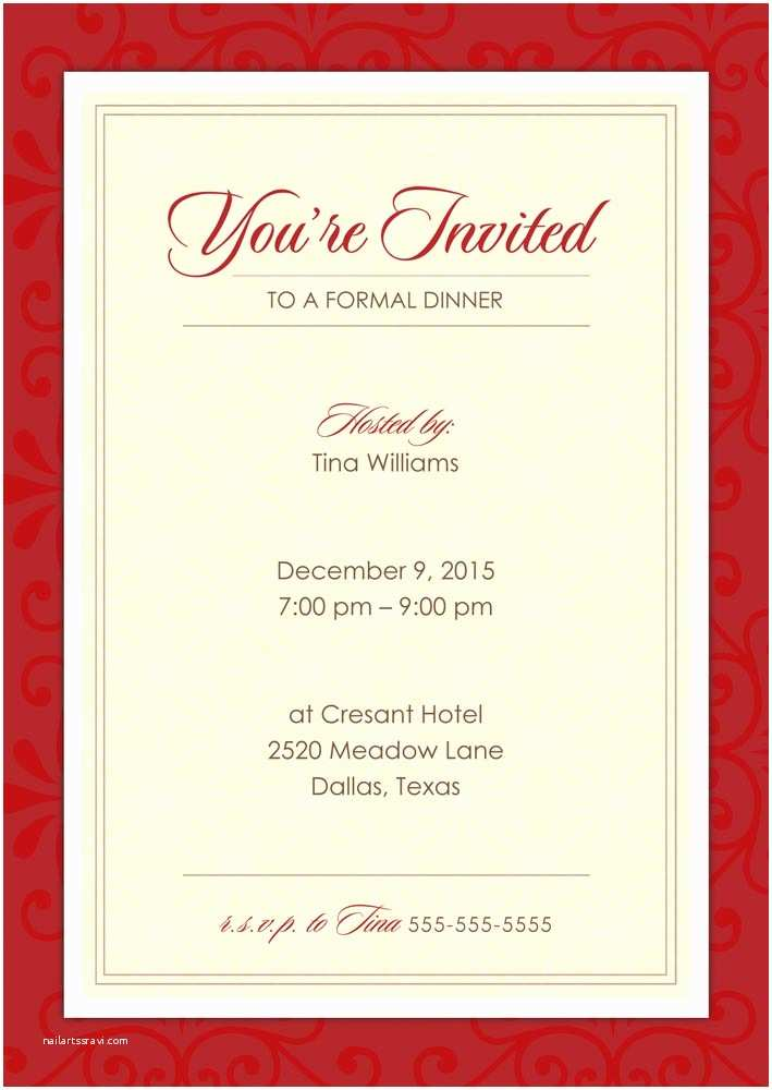 Elegant Party Invitations formal Dinner Party Holiday Party Invitations From