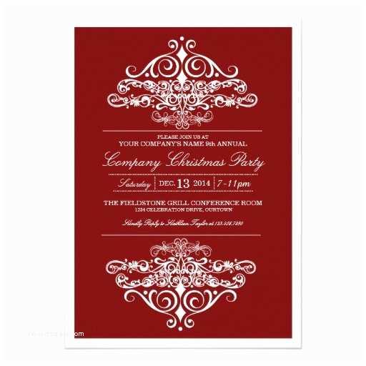 Elegant Party Invitations formal Invitation Christmas Party