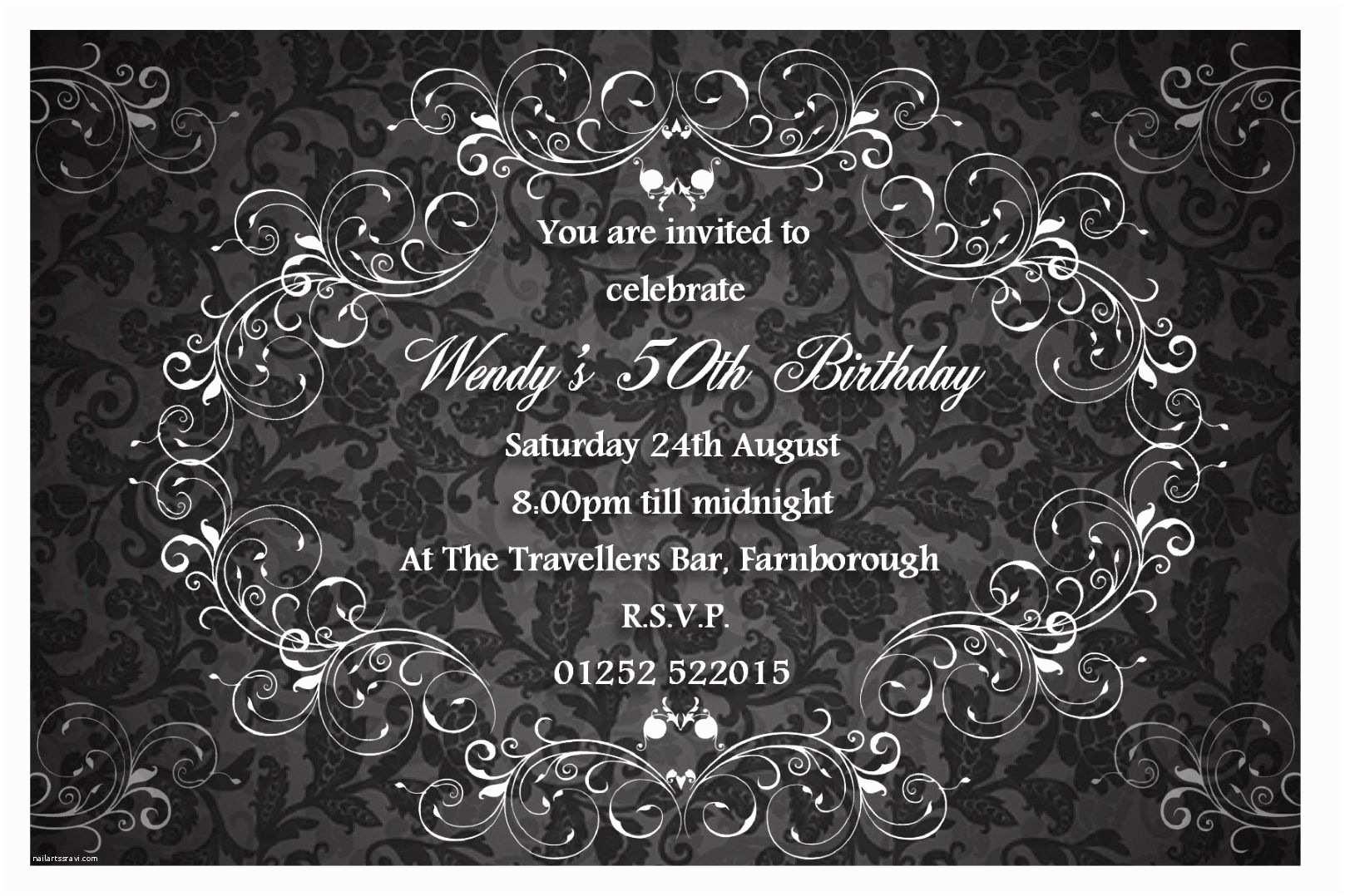 Elegant Party Invitations How to Make Elegant Birthday Invitations Ideas Charming