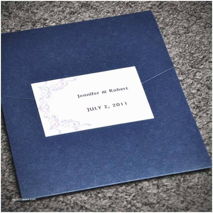 Elegant Pocket Wedding Invitations Brides Love Birds Pocket Invitations