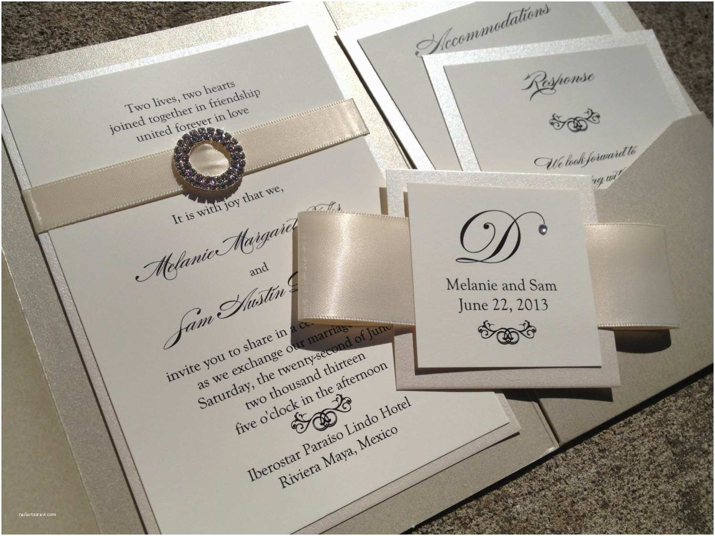 Elegant Pocket Wedding Invitations Cream Pocket Invitation Opulence Wedding Invitation
