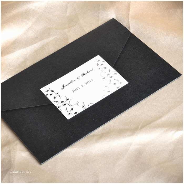 Elegant Pocket Wedding Invitations Elegant Black And White Pocket Wedding Invitations