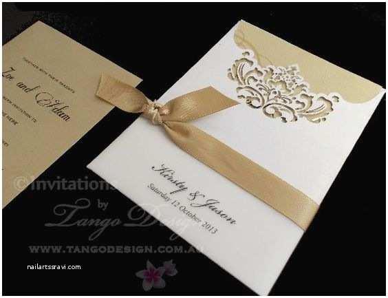 Elegant Pocket Wedding Invitations Elegant Laser Cut Pocket Invitations