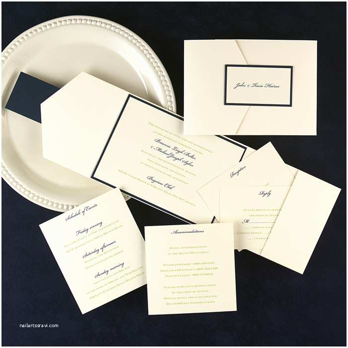 Elegant Pocket Wedding Invitations Elegant Pocket Wedding Invitations Little