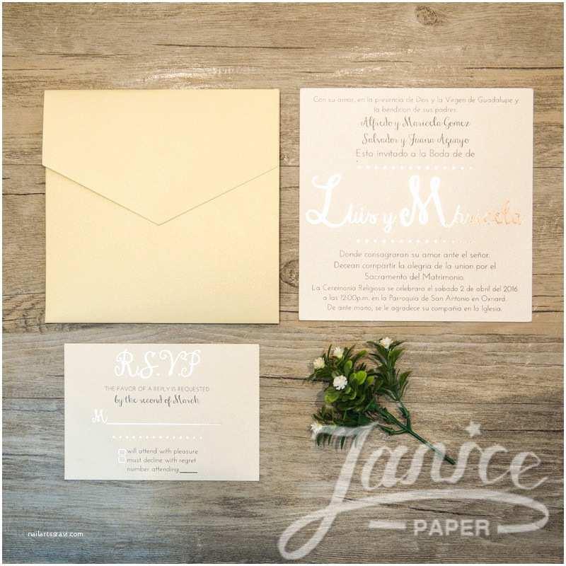 Elegant Pocket Wedding Invitations Elegant Square Pocket Wedding Invitation