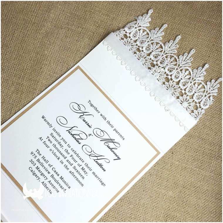 Elegant Pocket Wedding Invitations Lace Wedding Invitations Free