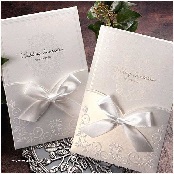 Elegant Pocket Wedding  White Ribbon Pocket Elegant Wedding