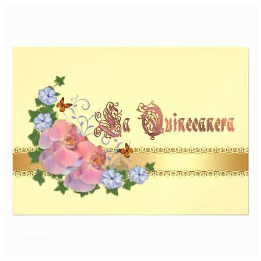 "Elegant Quinceanera Invitations Quinceanera Invitation 15th Birthday Elegant 5"" X 7"
