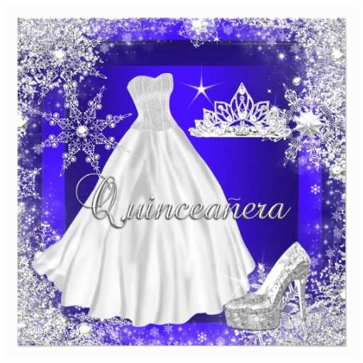 Elegant Quinceanera Invitations Royal Blue Quinceanera 15th Elite Elegant Birthday 5 25