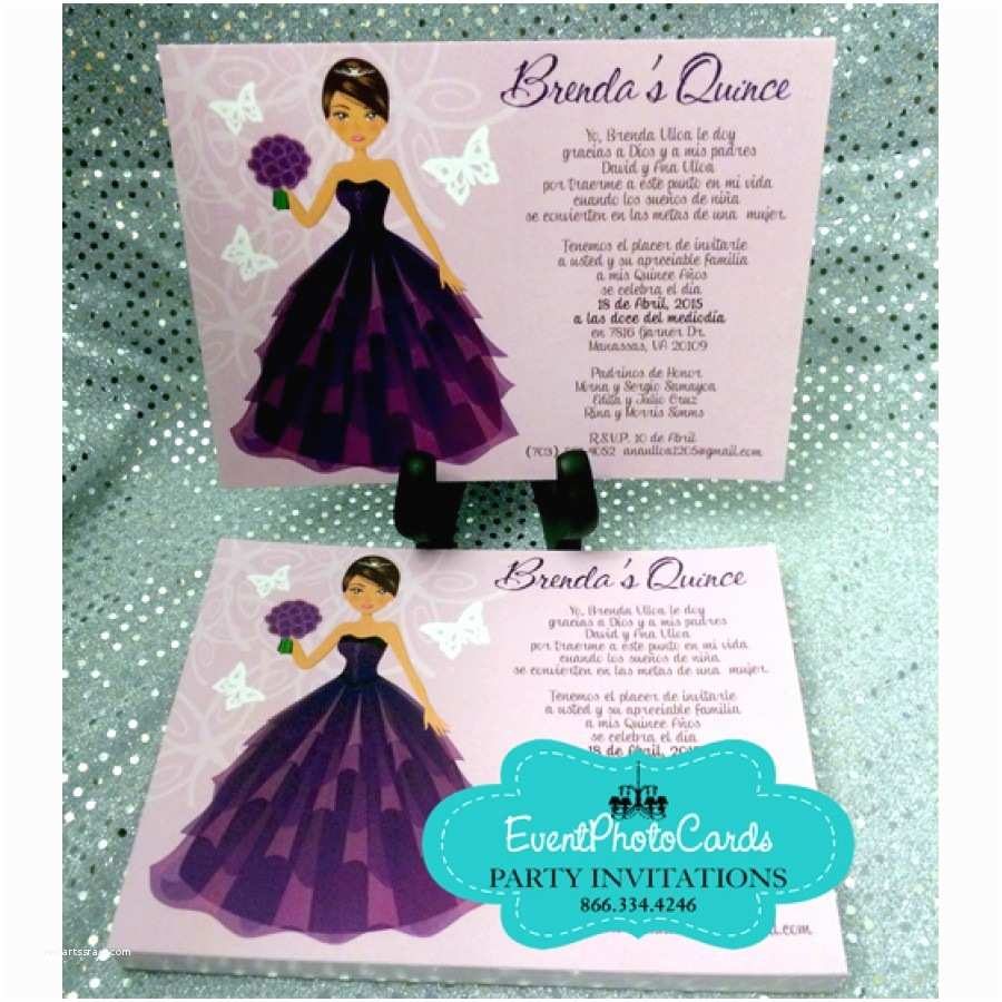 Elegant Quinceanera Invitations Unique Quince Invitations with Doll