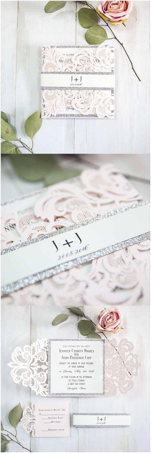 Elegant Silver Wedding Invitations 7 Super Elegant Pink Wedding Invitations From Ewi 2017 New