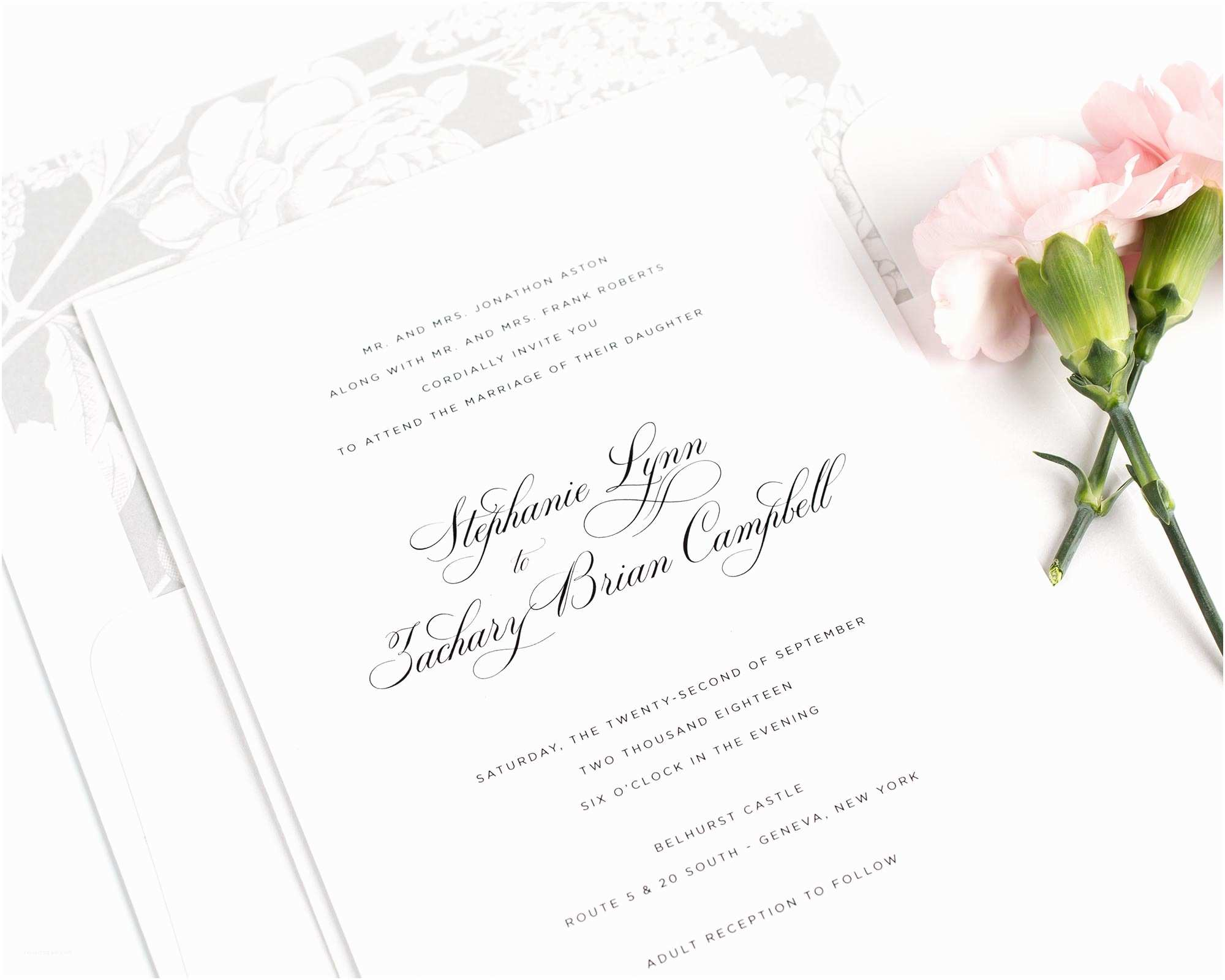 Elegant Silver Wedding Invitations Delicate Wedding Invitations In Silver – Wedding Invitations