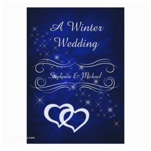 Elegant Silver Wedding Invitations Elegant Blue Silver Winter Wedding Invitation