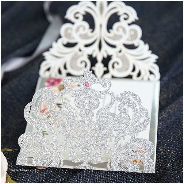 Elegant Silver Wedding Invitations Elegant Silver Glittery Floral Wedding Invitation Suite