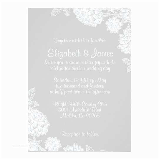 Elegant Silver Wedding Invitations Elegant Silver Wedding Invitations