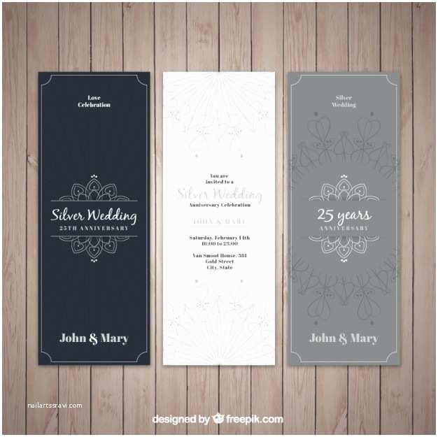 Elegant Silver Wedding Invitations Elegant Silver Wedding Invitations Vector