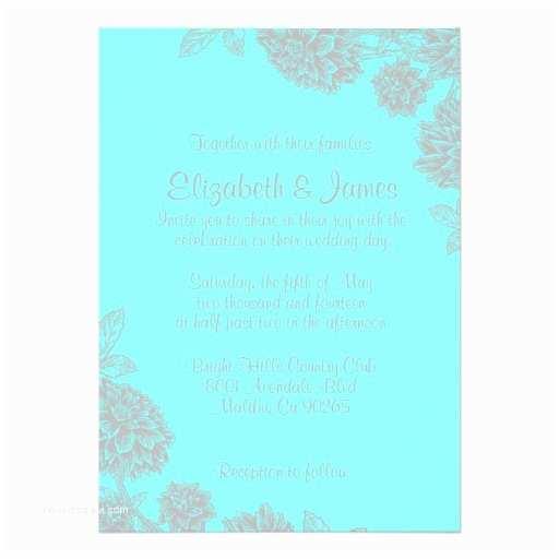 Elegant Silver Wedding Invitations Elegant Teal and Silver Wedding Invitations