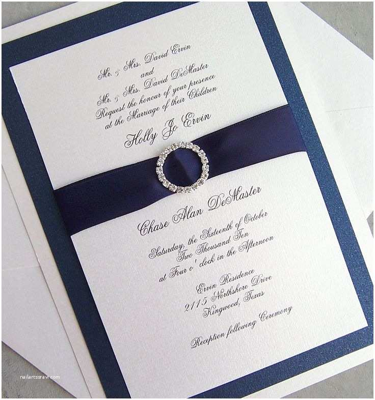 Elegant Silver Wedding Invitations Elegant Wedding Invitation Rhinestone Wedding Invitation