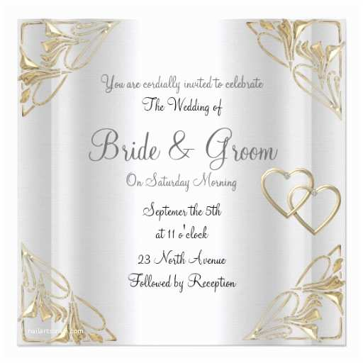 Elegant Silver Wedding Invitations Popular and Elegant Silver Wedding Invitation