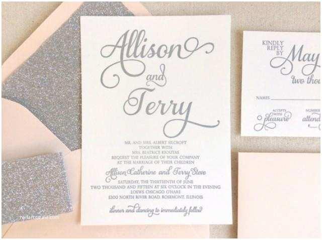 Elegant Silver Wedding Invitations the Stargazer Suite Modern Letterpress Wedding Invitation