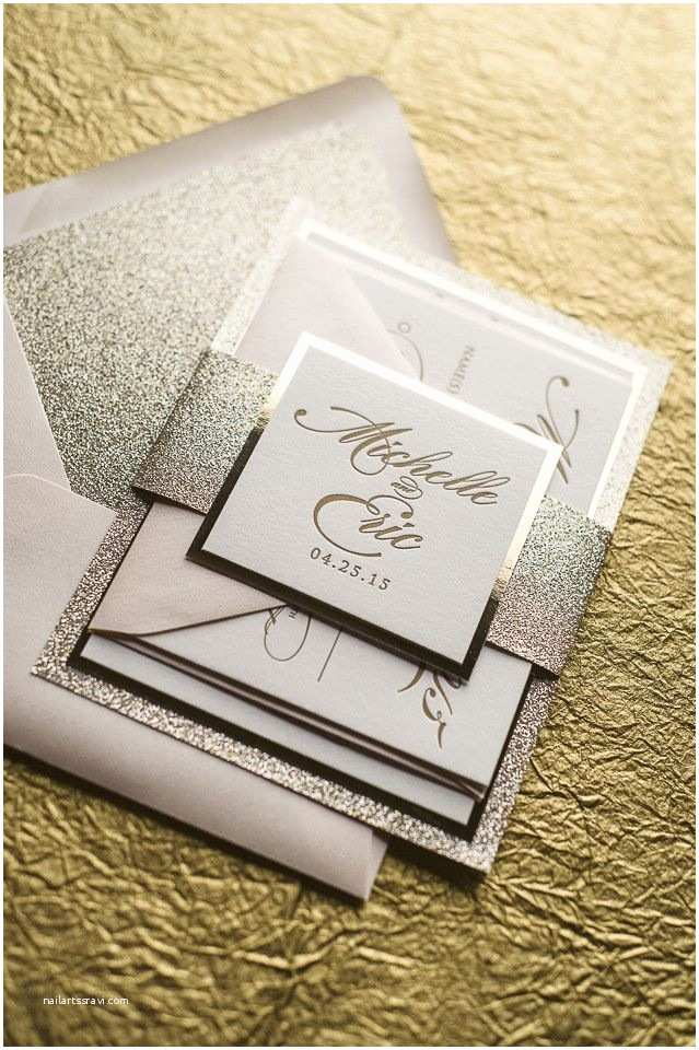 Elegant Wedding Invitation Sets Abigail Suite Fancy Glitter Package Elegant Wedding