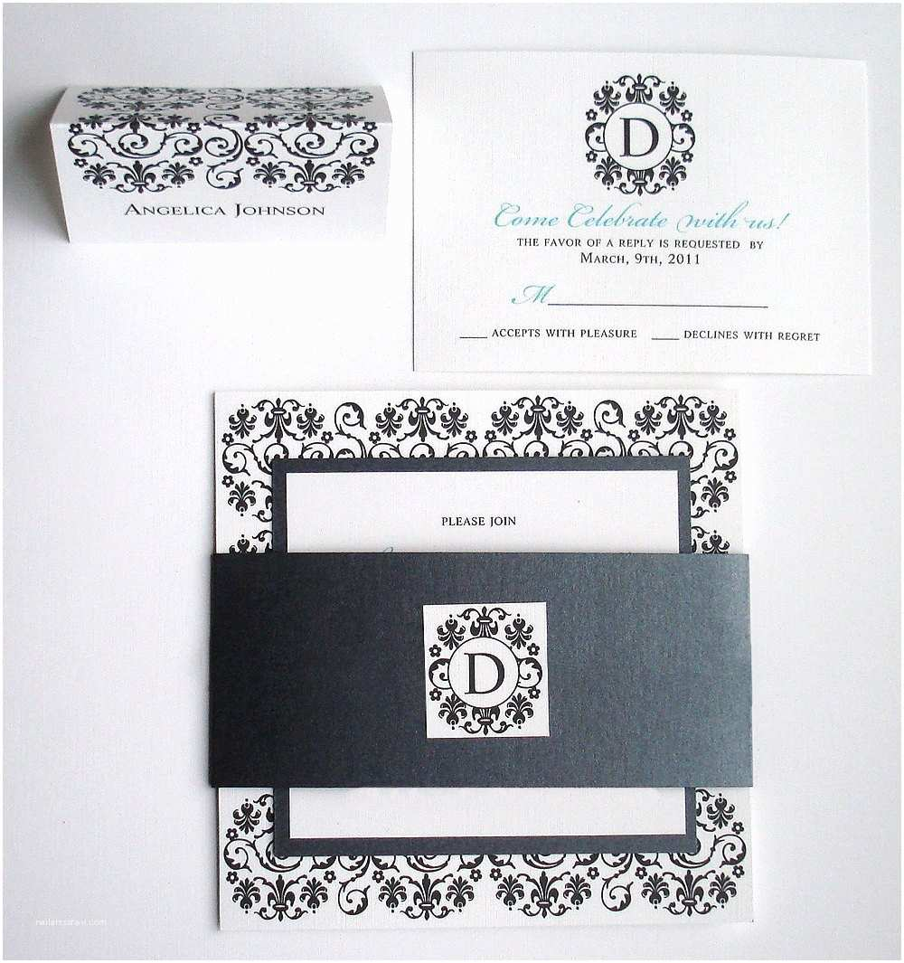 Elegant Wedding Invitation Sets Black Tie Wedding Invitation Set Elegant Wedding Invitations