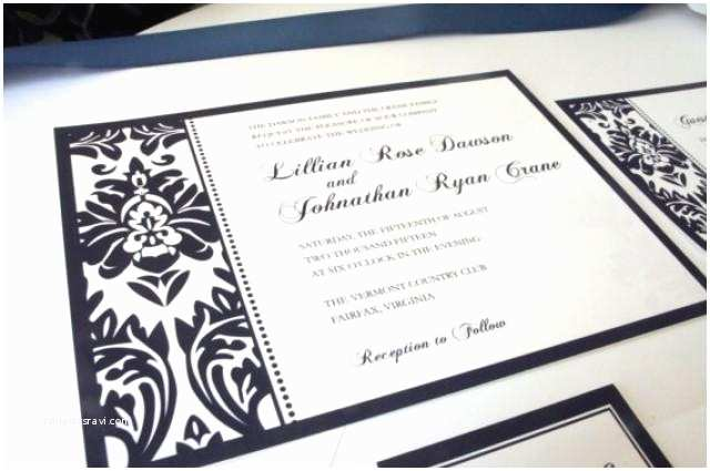 Elegant Wedding Invitation Sets Elegant Navy Blue Wedding Invitation Elegant Wedding